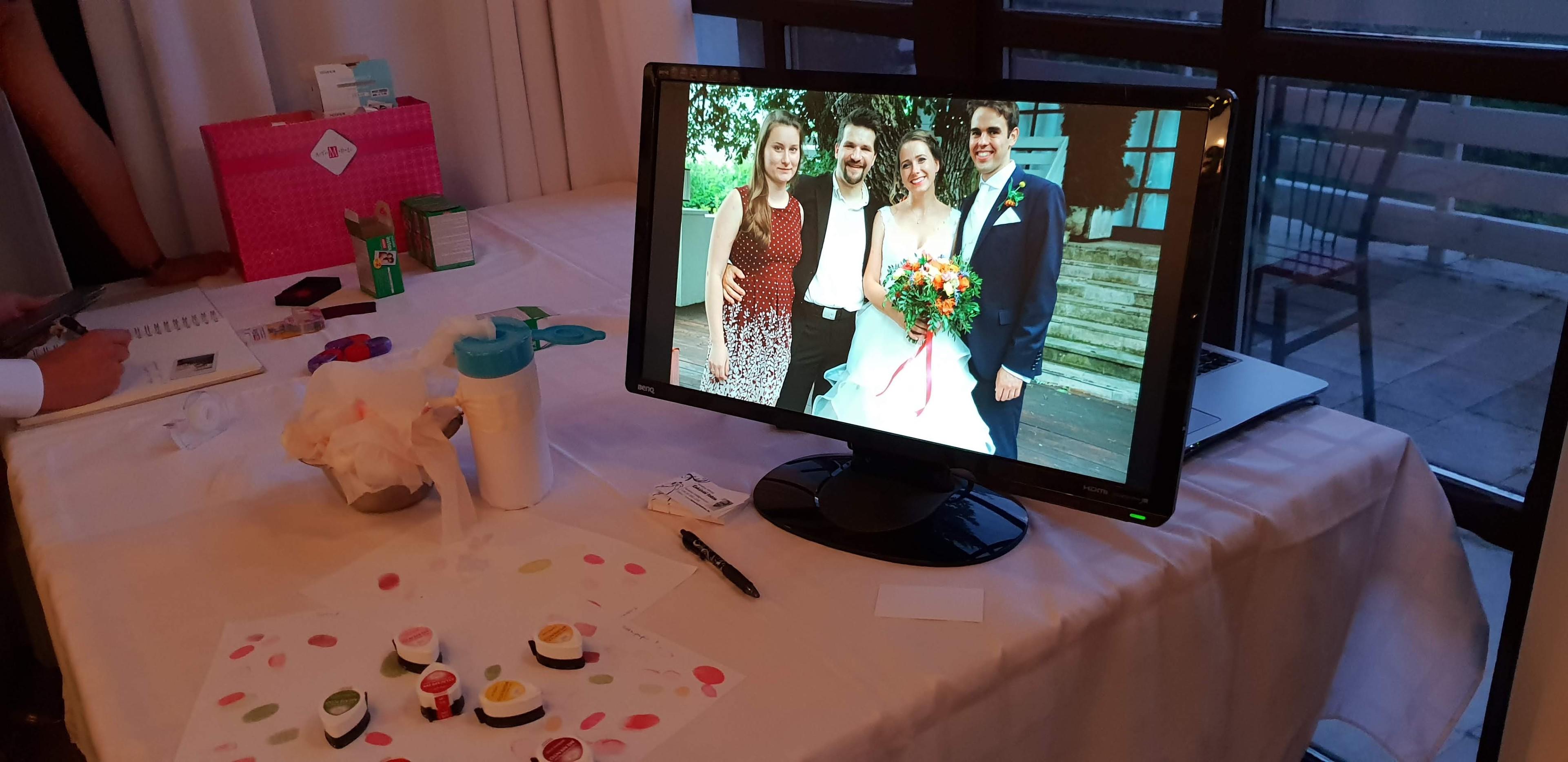 képvetítés esküvőkön